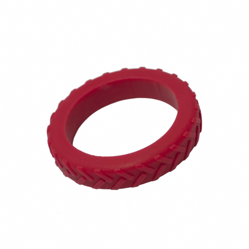 Tread Bangle (Teen / Young Adult) - 'Road Rage' - Red Tyre